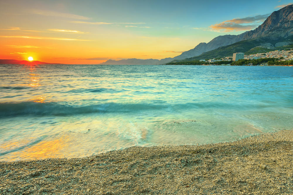 Kroatien, Beach, Sunset, Croatia
