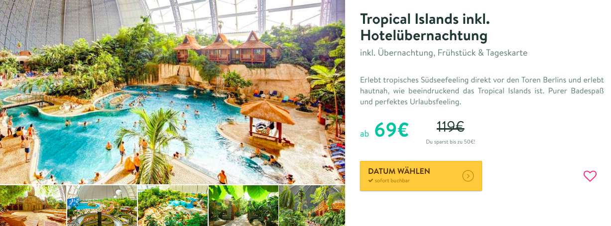 Tropical Islands mit AMAZONIA + Berlin Kurztrip