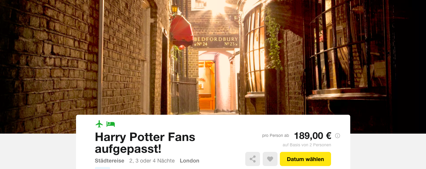 London Harry Potter Hotel Und Flug