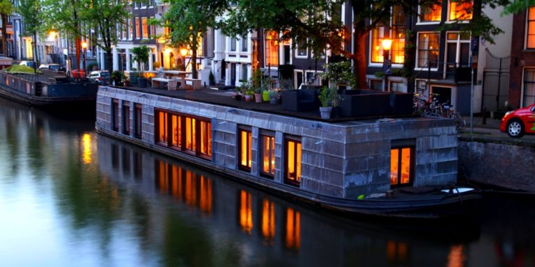 Luxus Hausboot in Amsterdam