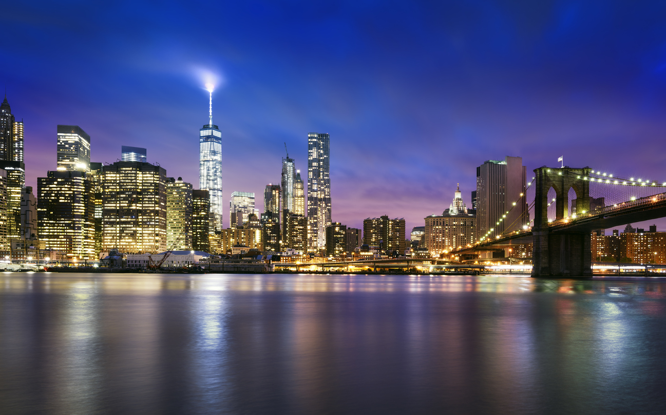 Urlaub im Winter New York City skyline