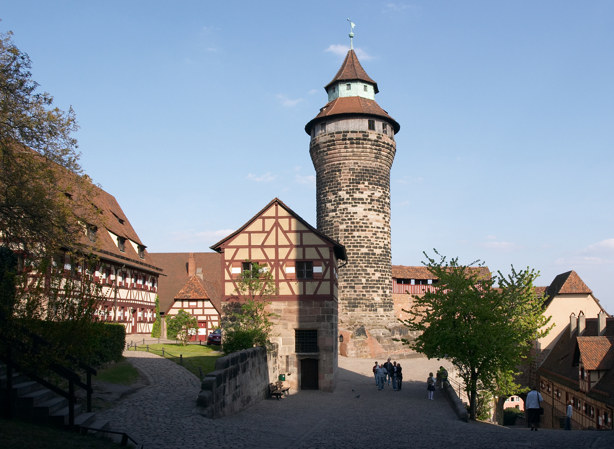 Exterior of Imperial Castle in Nuremberg, Germany