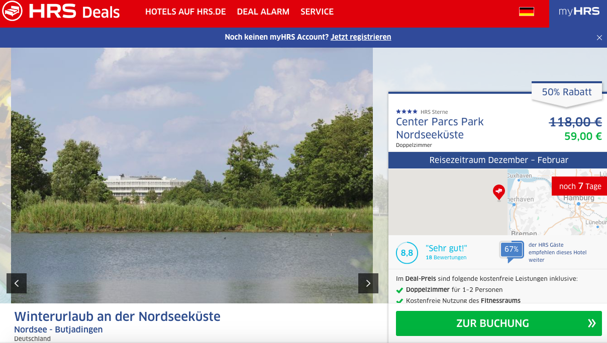 Center Parcs Nordsee Tossens