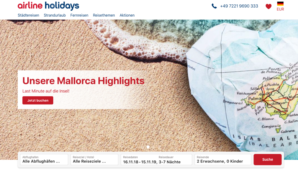 airline holidays