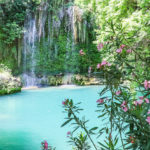 Turkey Antalya Kursunlu Waterfall view. Travel concept photo.
