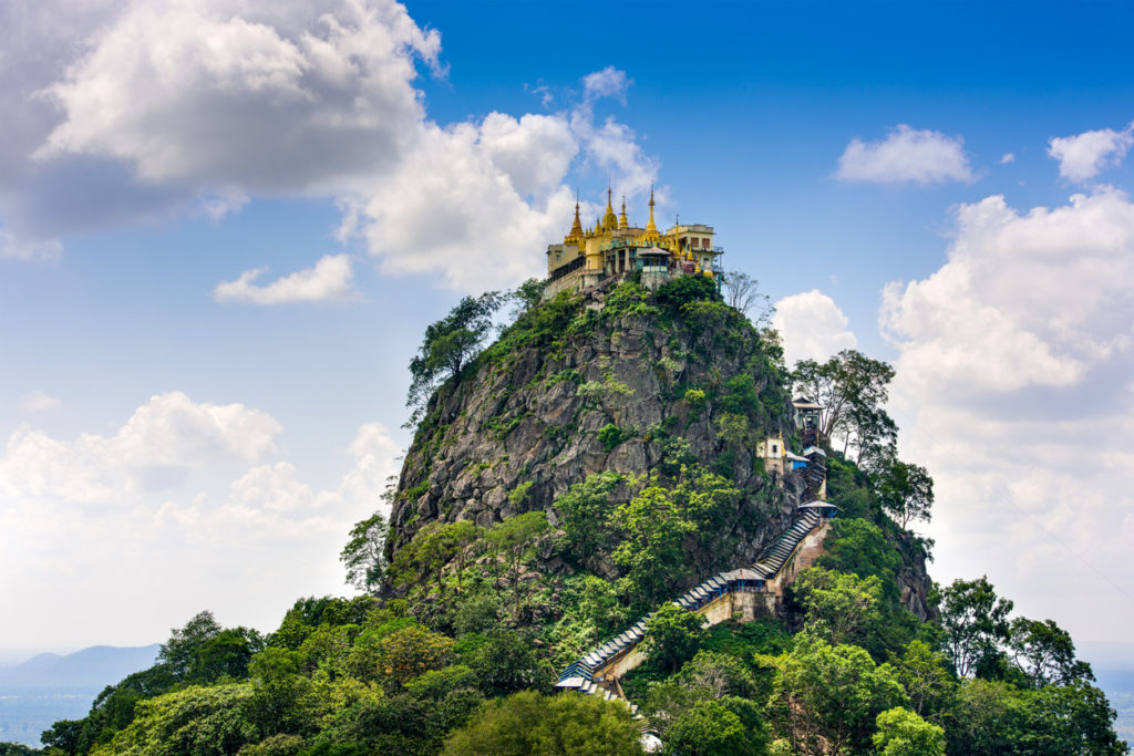 Mount Popa in Myanmar